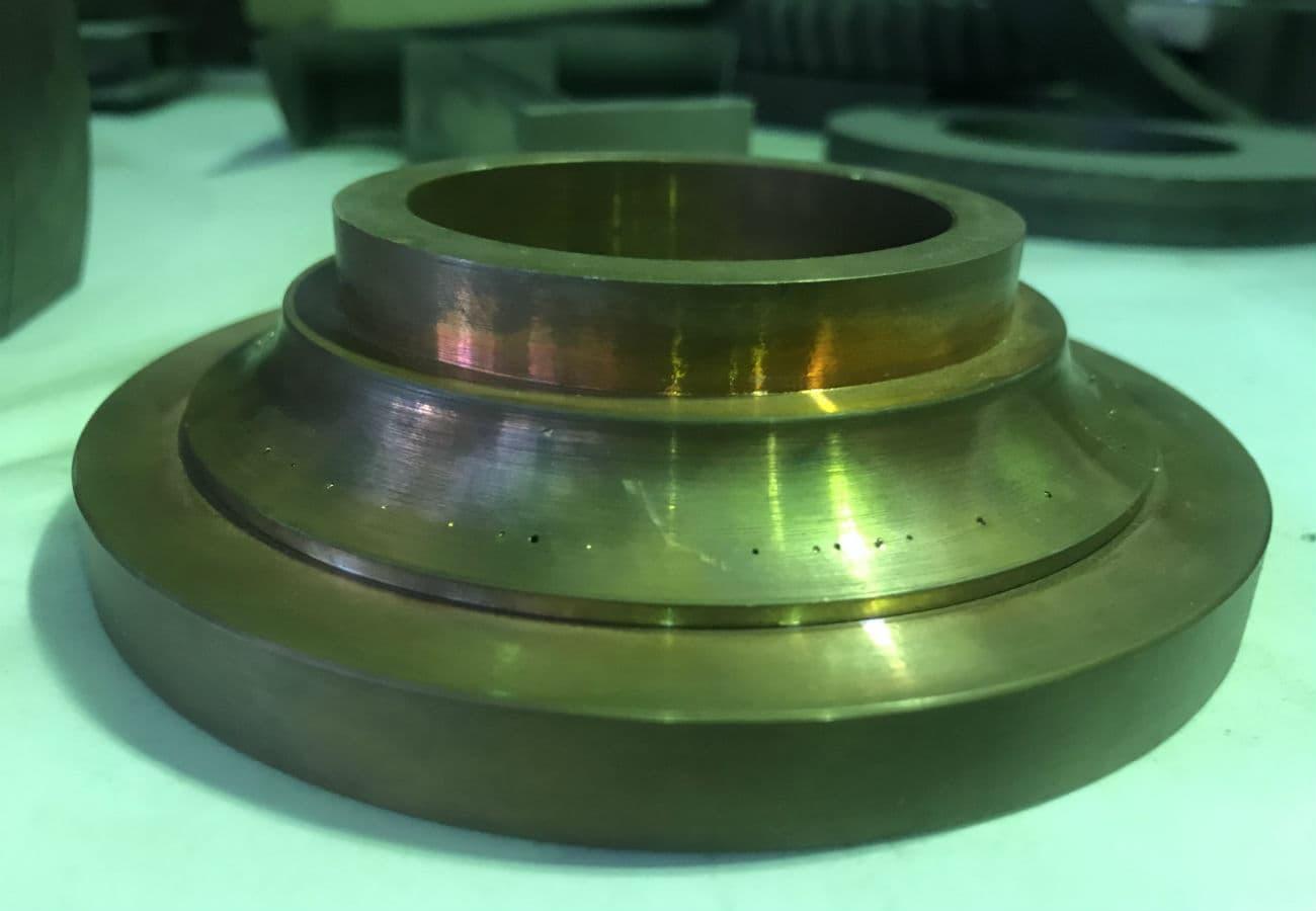 Деталь из меди для литейной или сталелитейной промышленности