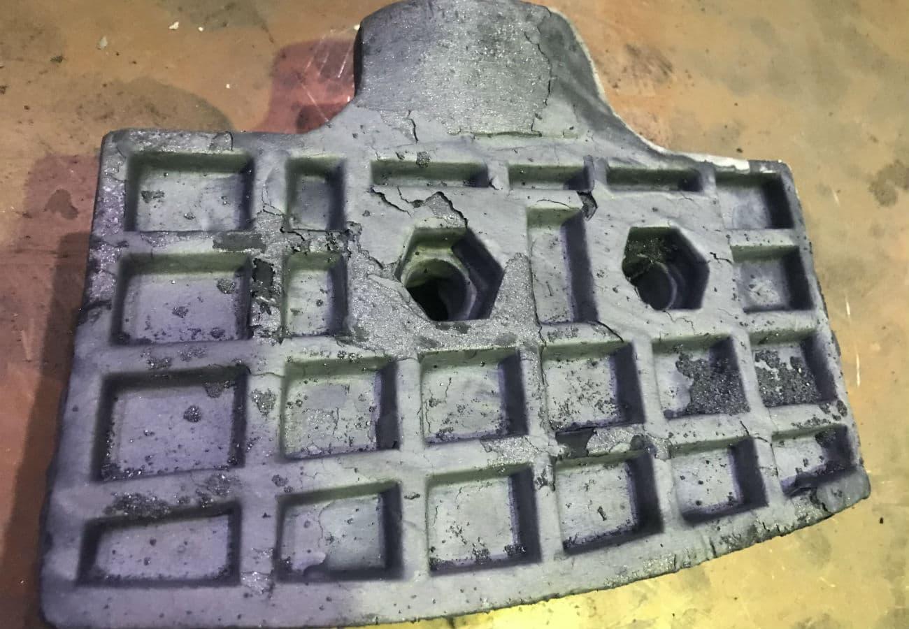 Лопатки для мешалки из износостойкого чугуна весом 10,5 кг и 14 кг