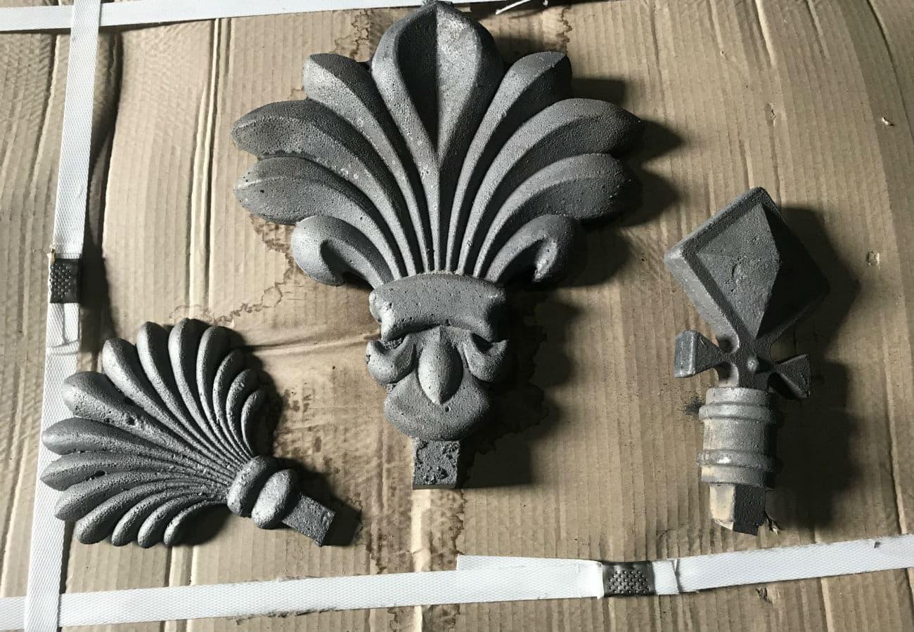 Художні литі елементи декору вагою від 2 до 10 кг