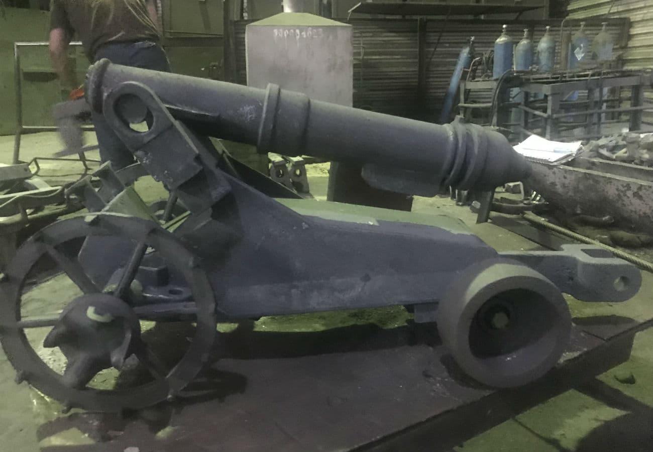 Макет пиратской пушки из чугуна