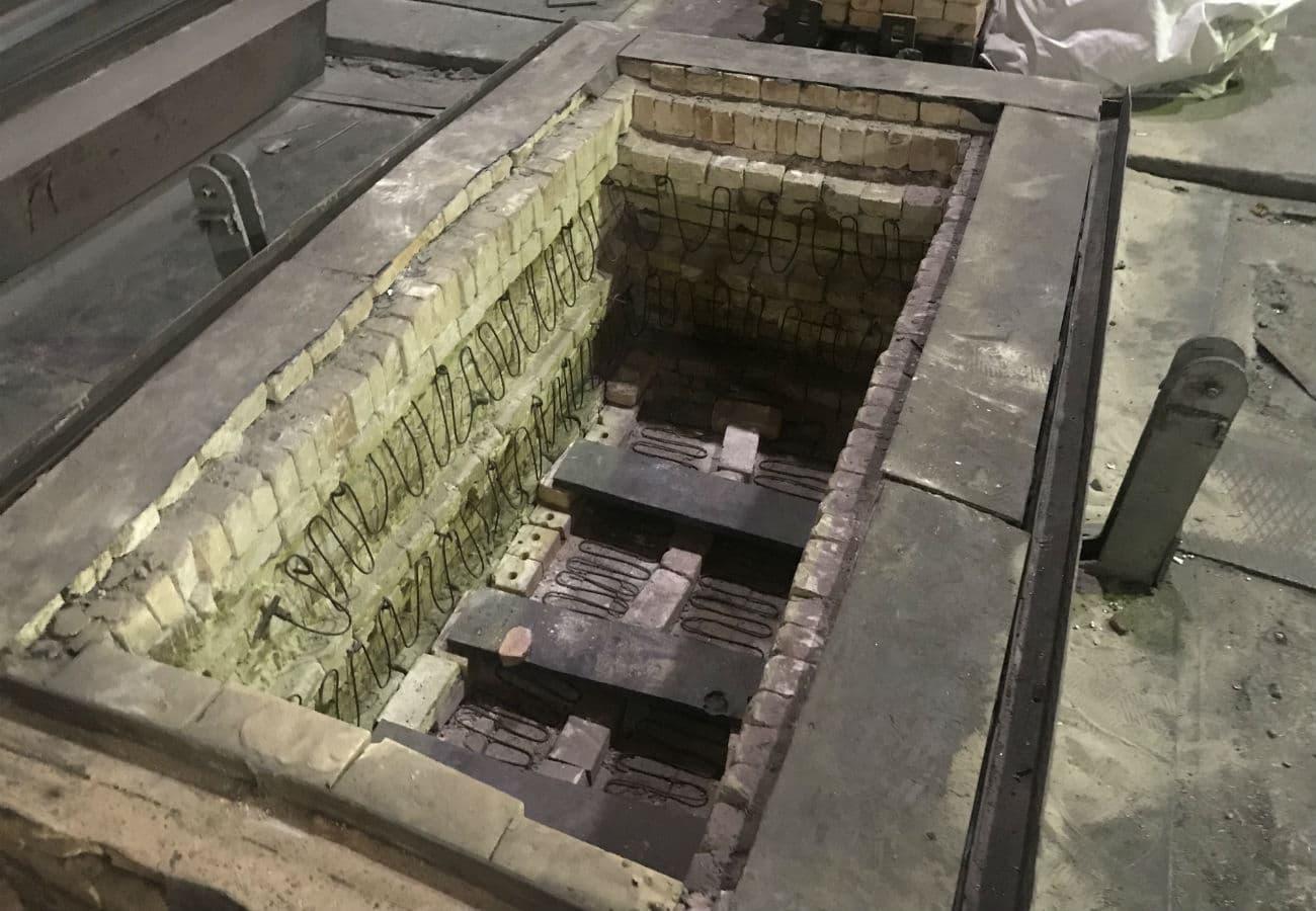 Печь термическая для отпуска сварных металлоконструкций и литья на киевском Опытном заводе спецэлектрометаллургии