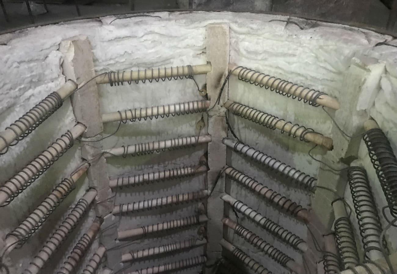 Максимальна температура нагріву термічної шахтної пічі для відпалу і нормалізації лиття (виливків) 1100˚С