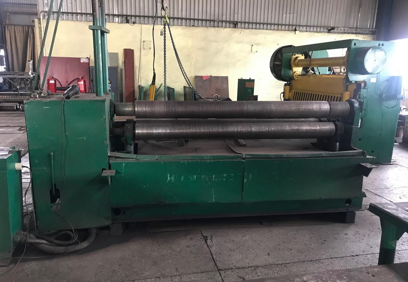 Оборудование для вальцовки листового металла толщиной от 1мм до 10мм и шириной до 2м