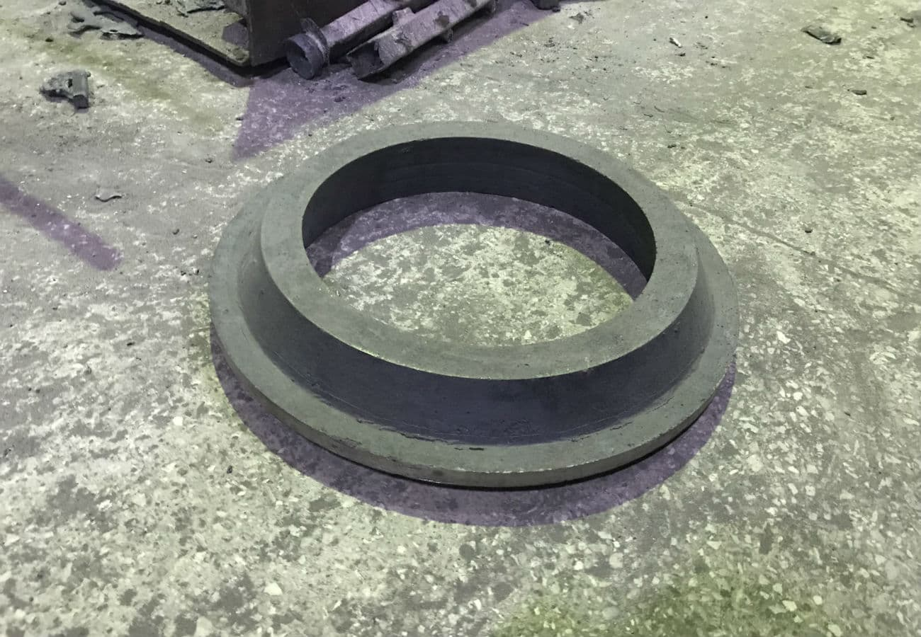 Заготовка коронной шестерни из чугуна СЧ30, весом 55 кг